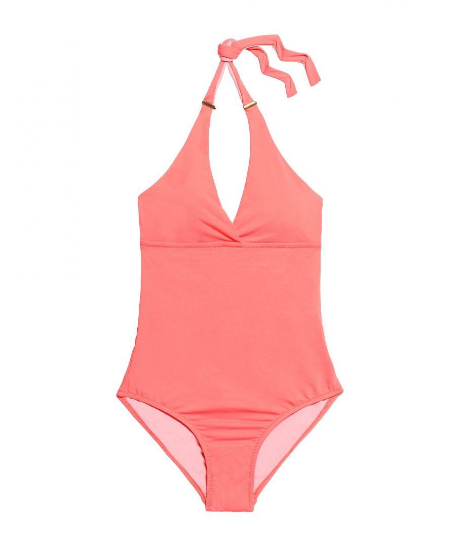 Image for Melissa Odabash Coral Halterneck Swimsuit