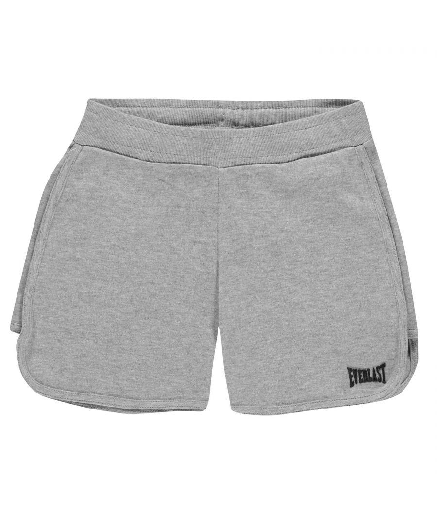 Image for Everlast Girls Logo Shorts Fleece Lightweight Elasticated Waistband Soft Bottom