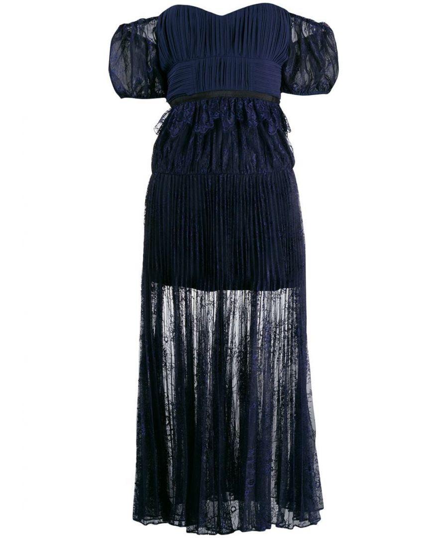 Image for SELF-PORTRAIT WOMEN'S SP22016NNAVY BLUE POLYESTER DRESS