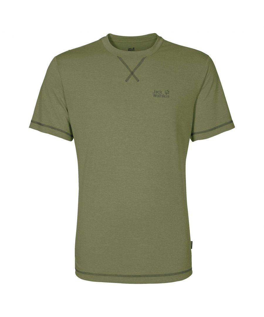 Image for Jack Wolfskin Crosstrail Mens T-Shirt Khaki - L