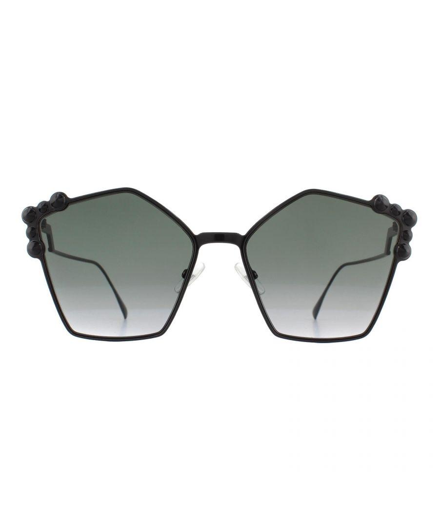Image for Fendi Sunglasses FF 0261/S 2O5 9O Black Dark Grey Gradient