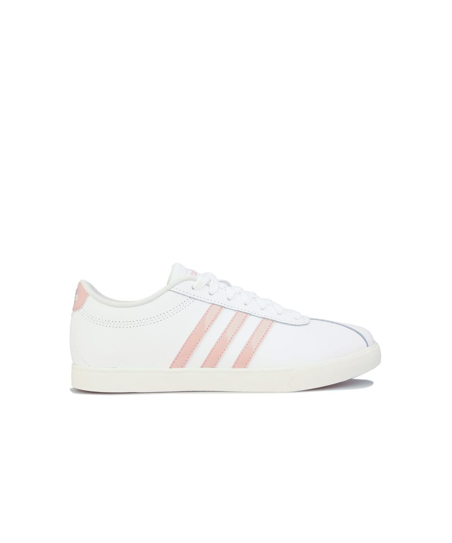 Image for Women's adidas Courtset Trainers in White pink