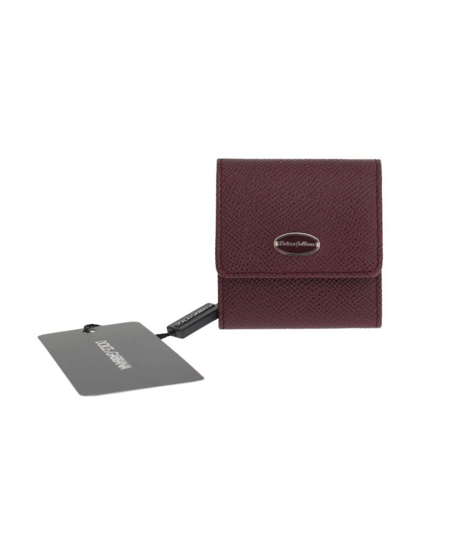 Image for Dolce & Gabbana Bordeaux Dauphine Leather Key Wallet