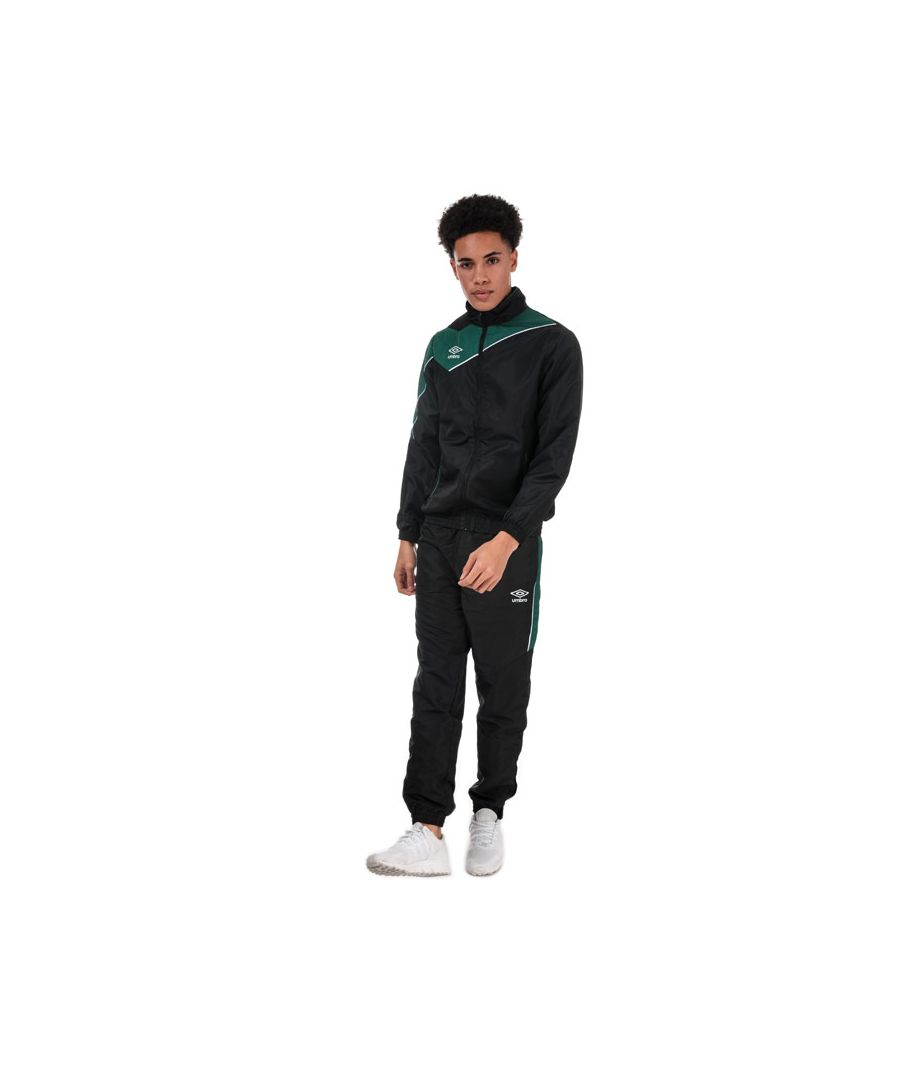 Image for Men's Umbro Division Lined Tracksuit in black green