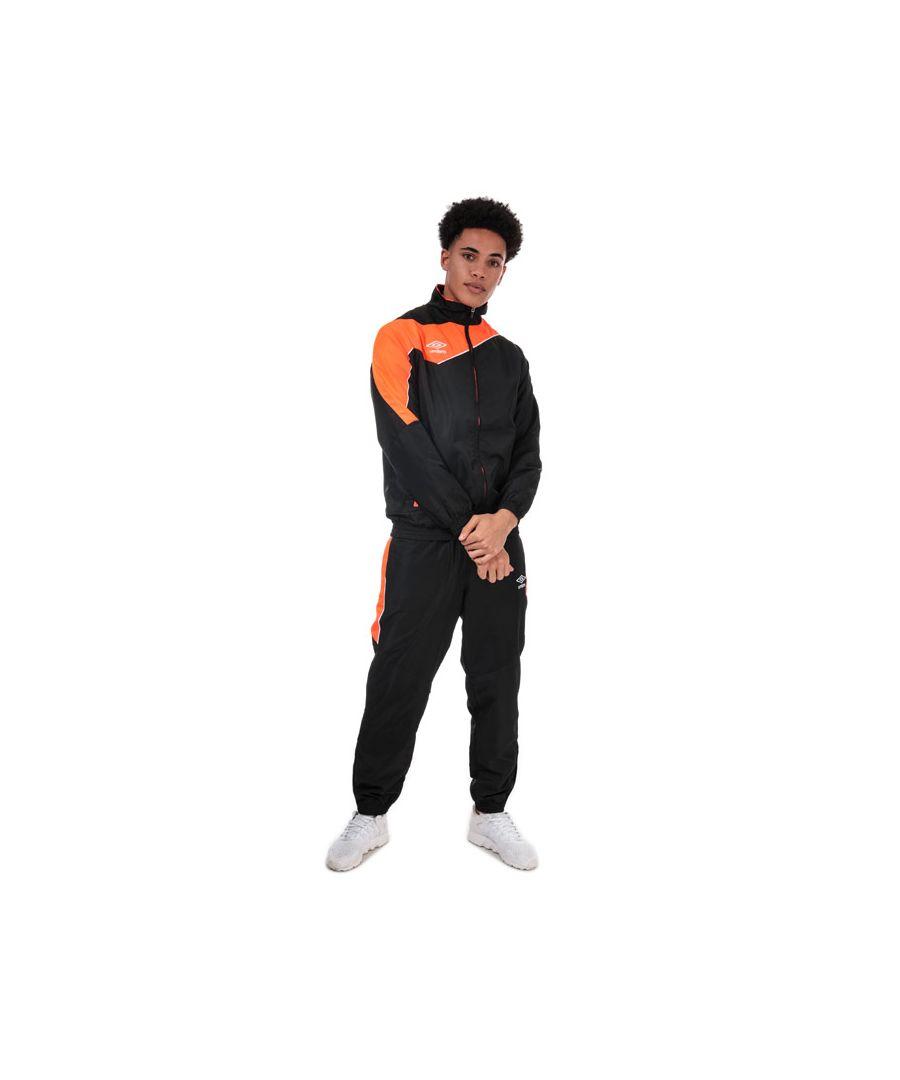 Image for Men's Umbro Division Lined Tracksuit in black orange