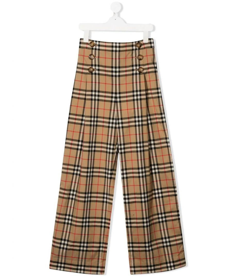 Image for BURBERRY GIRLS 8026389 BEIGE COTTON PANTS