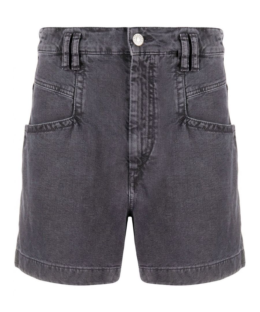 Image for ISABEL MARANT WOMEN'S SH034520E010I30FN GREY COTTON SHORTS