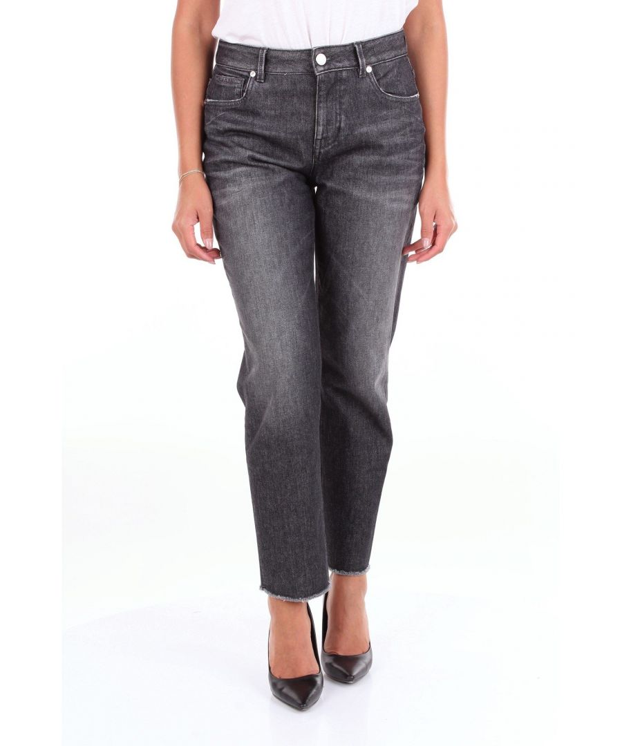 Image for PT01 WOMEN'S DN02VJTIZ40DENBLACK BLACK COTTON JEANS