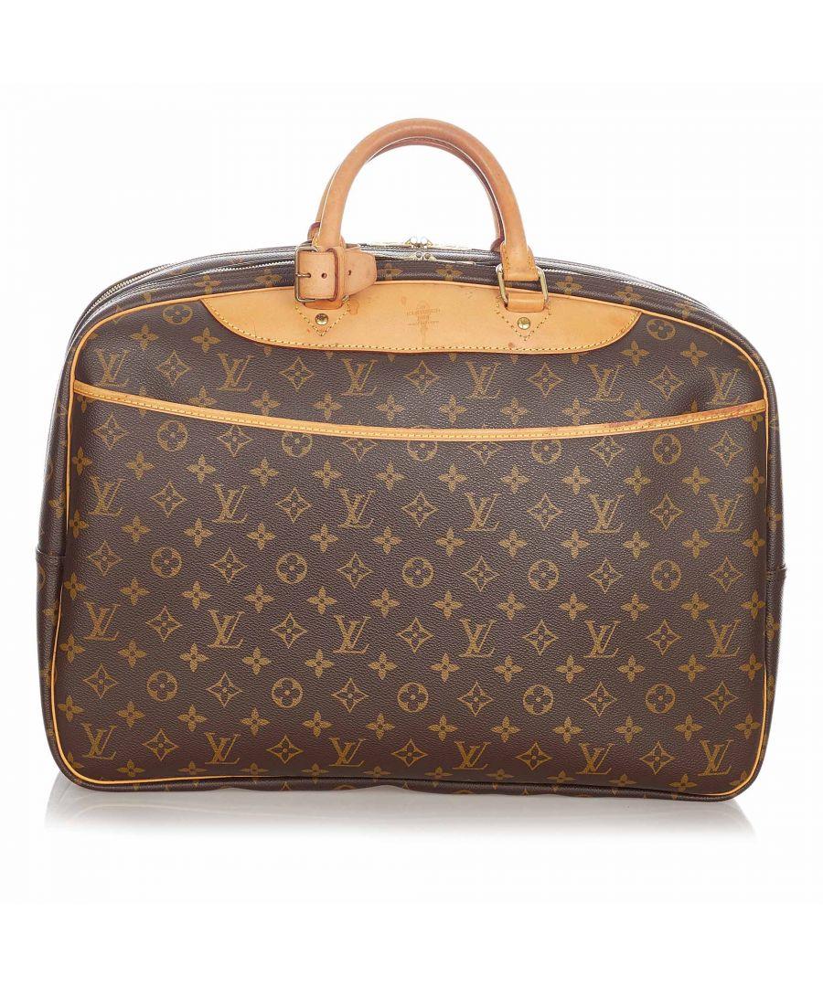 Image for Vintage Louis Vuitton Monogram Alize 24 Heures Brown