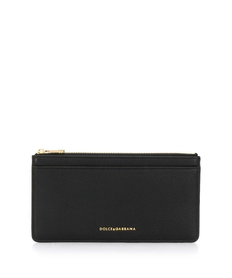 Image for DOLCE E GABBANA WOMEN'S BI1265AA89980999 BLACK LEATHER CARD HOLDER