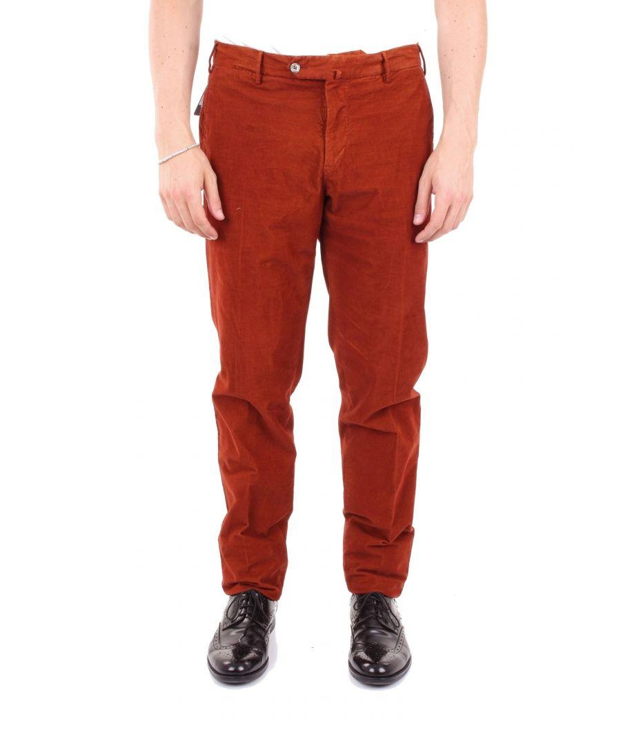 Image for PT01 MEN'S VT92TT01Z10TVNRED RED COTTON PANTS