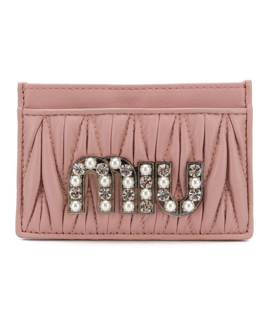 Image for MIU MIU WOMEN'S 5MC2082BSQF0028 PINK LEATHER CARD HOLDER