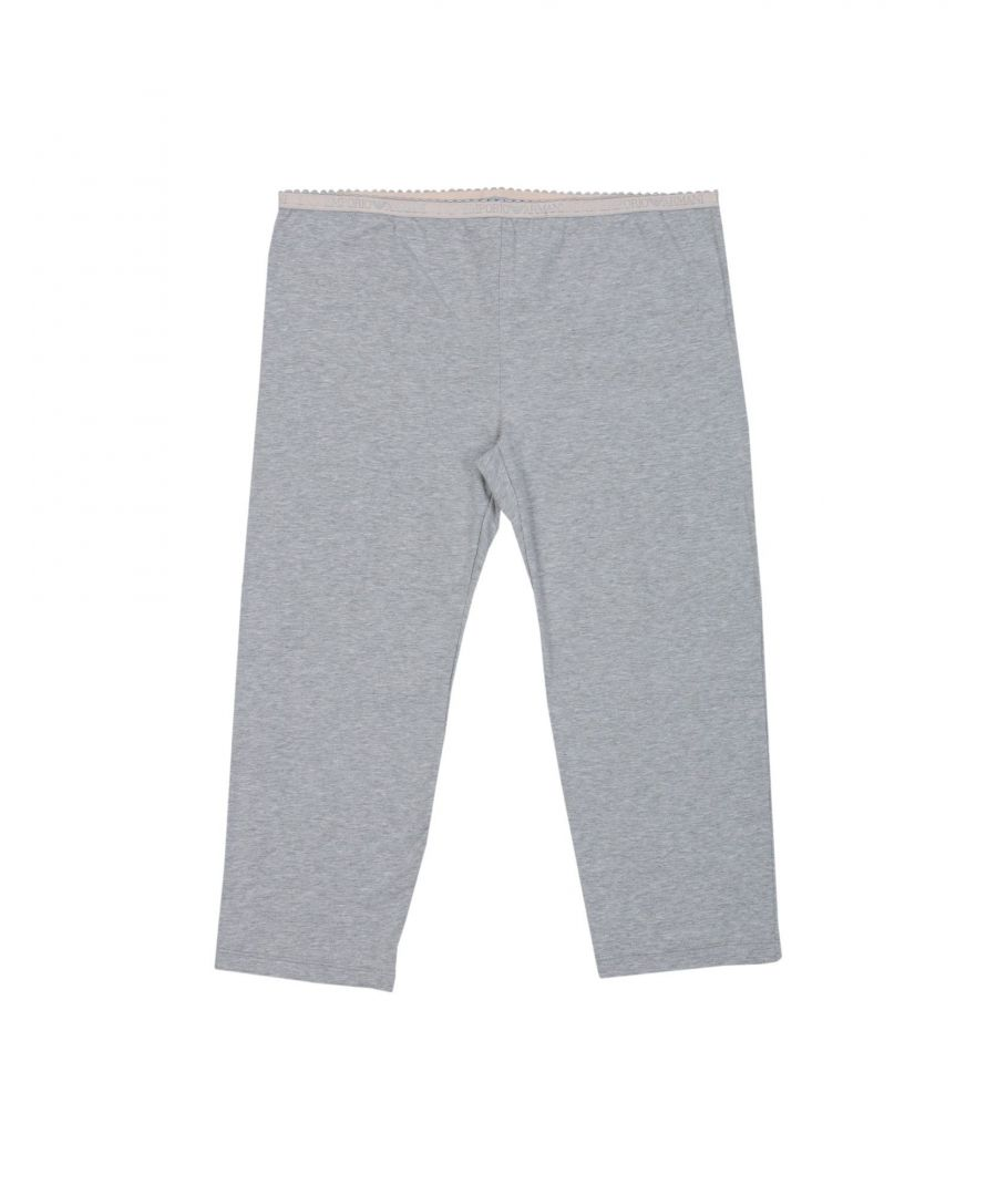 Image for Emporio Armani Light Grey Cotton Lounge Trousers
