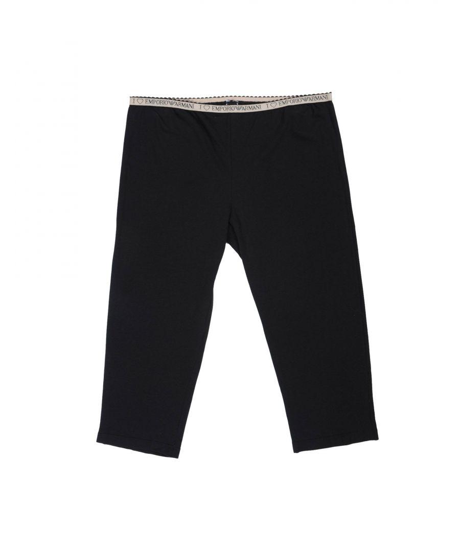Image for Emporio Armani Black Cotton Lounge Trousers