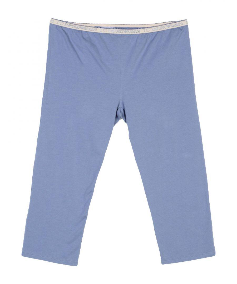 Image for Emporio Armani Pastel Blue Cotton Lounge Trousers