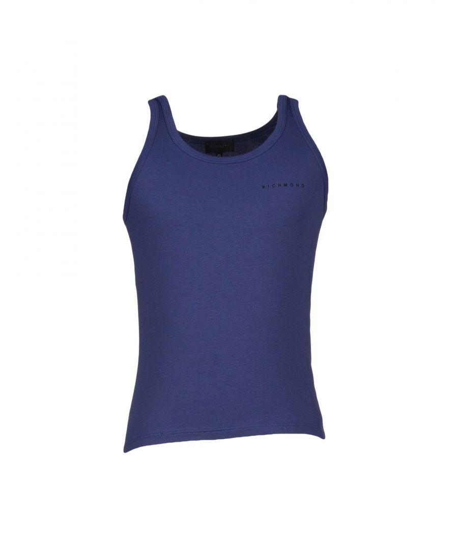 Image for John Richmond Underwear Dark Blue Cotton Jersey Vest