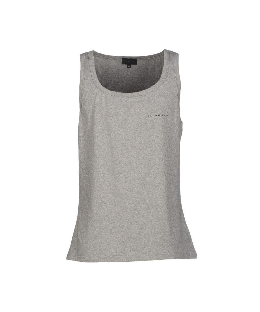 Image for John Richmond Underwear Grey Cotton Jersey Vest