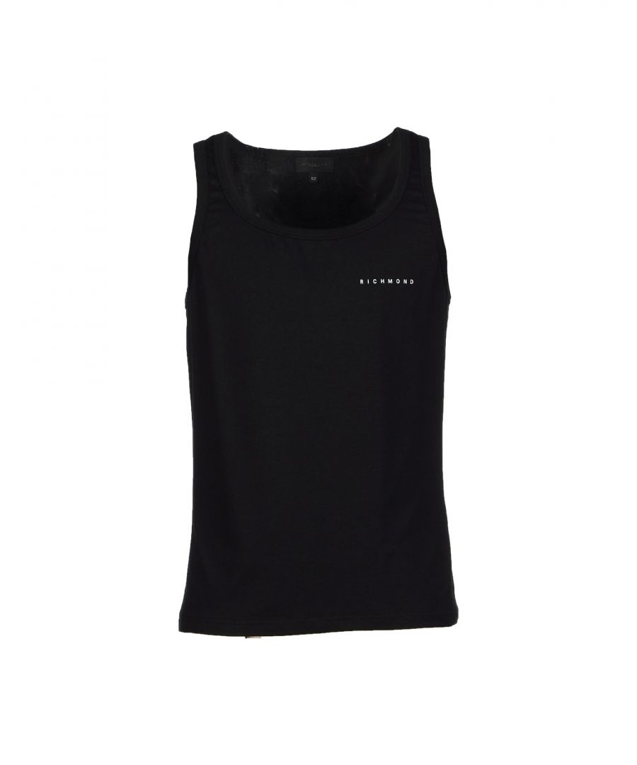 Image for John Richmond Underwear Black Cotton Tank