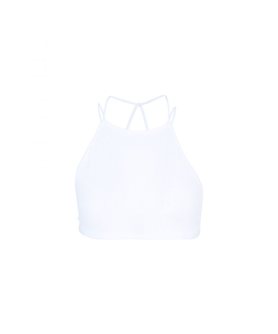 Image for Free People White High Neck Bra