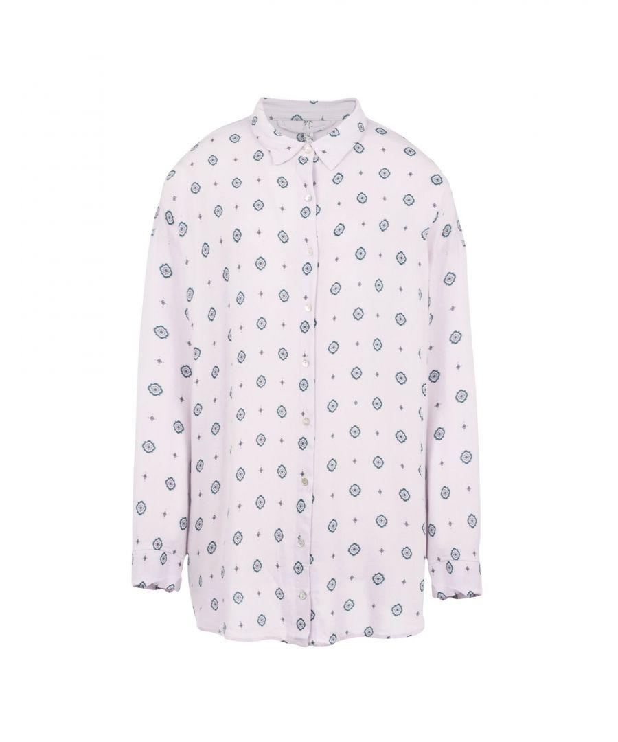 Image for Free People Light Pink Multicolour Pattern Pyjama Shirt