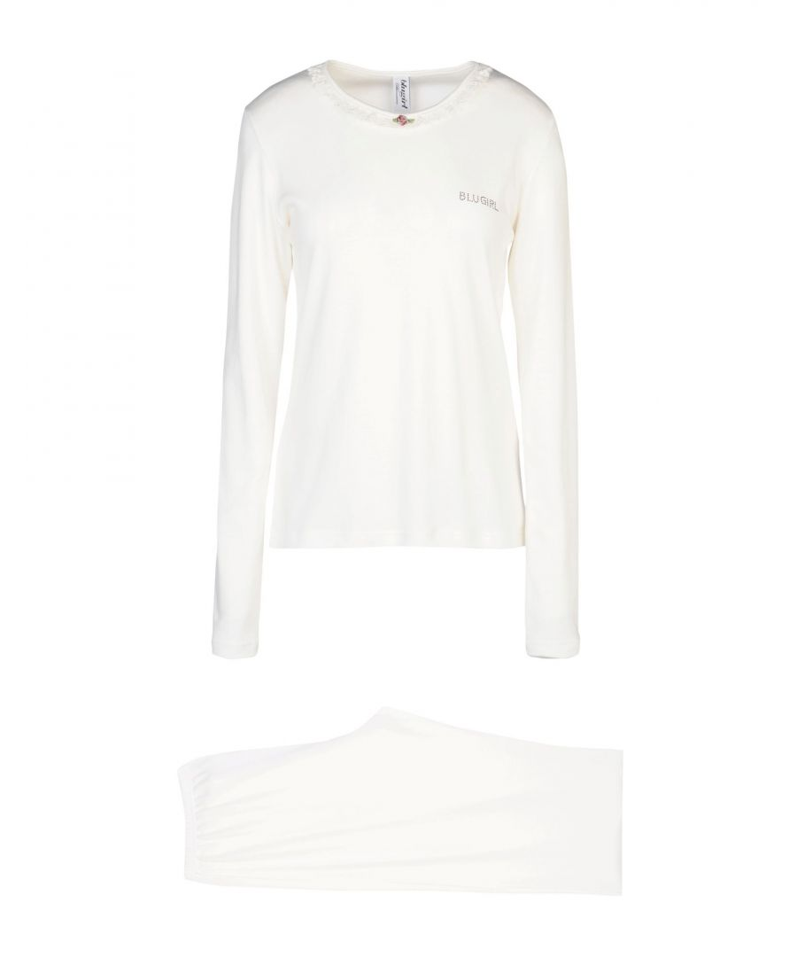 Image for Blugirl Blumarine White Cotton Jersey Pyjama Set