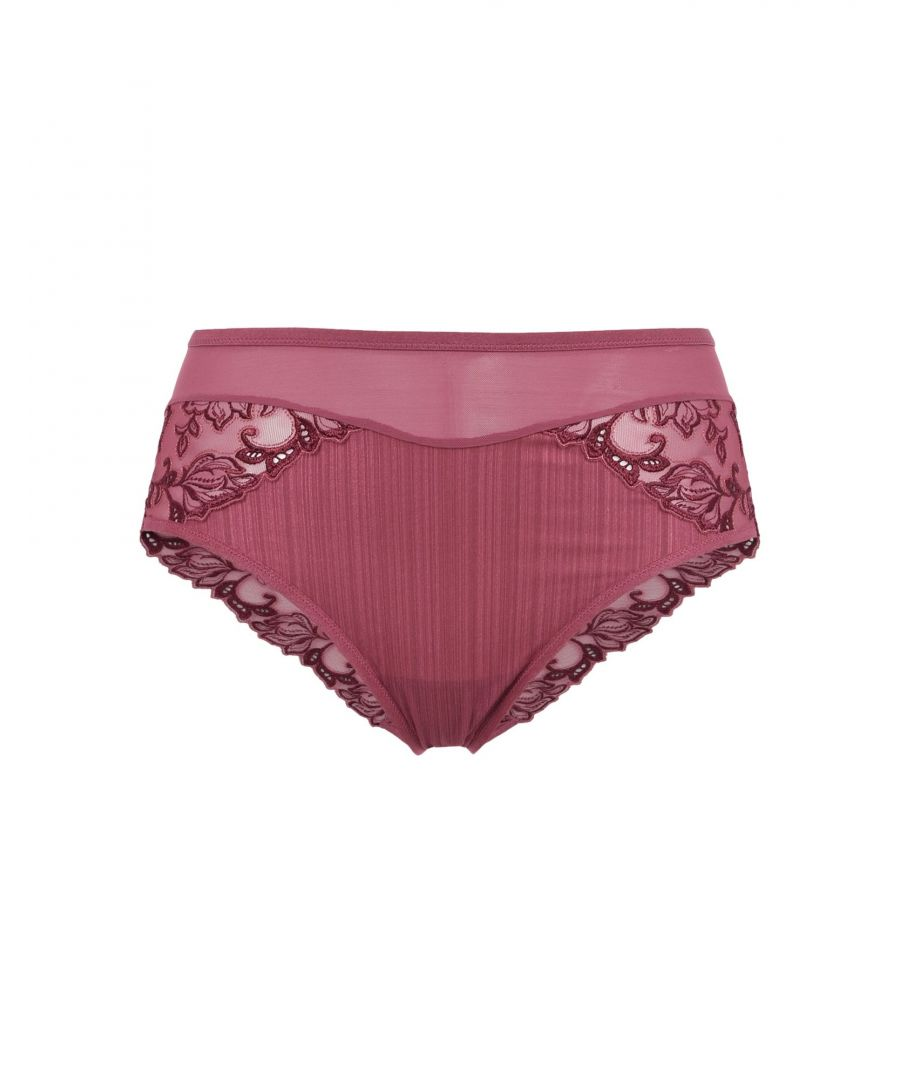 Image for Triumph Mauve Embroidered Tulle Briefs