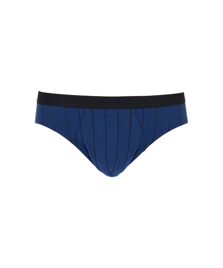 Image for Hanro Dark Blue Cotton Briefs