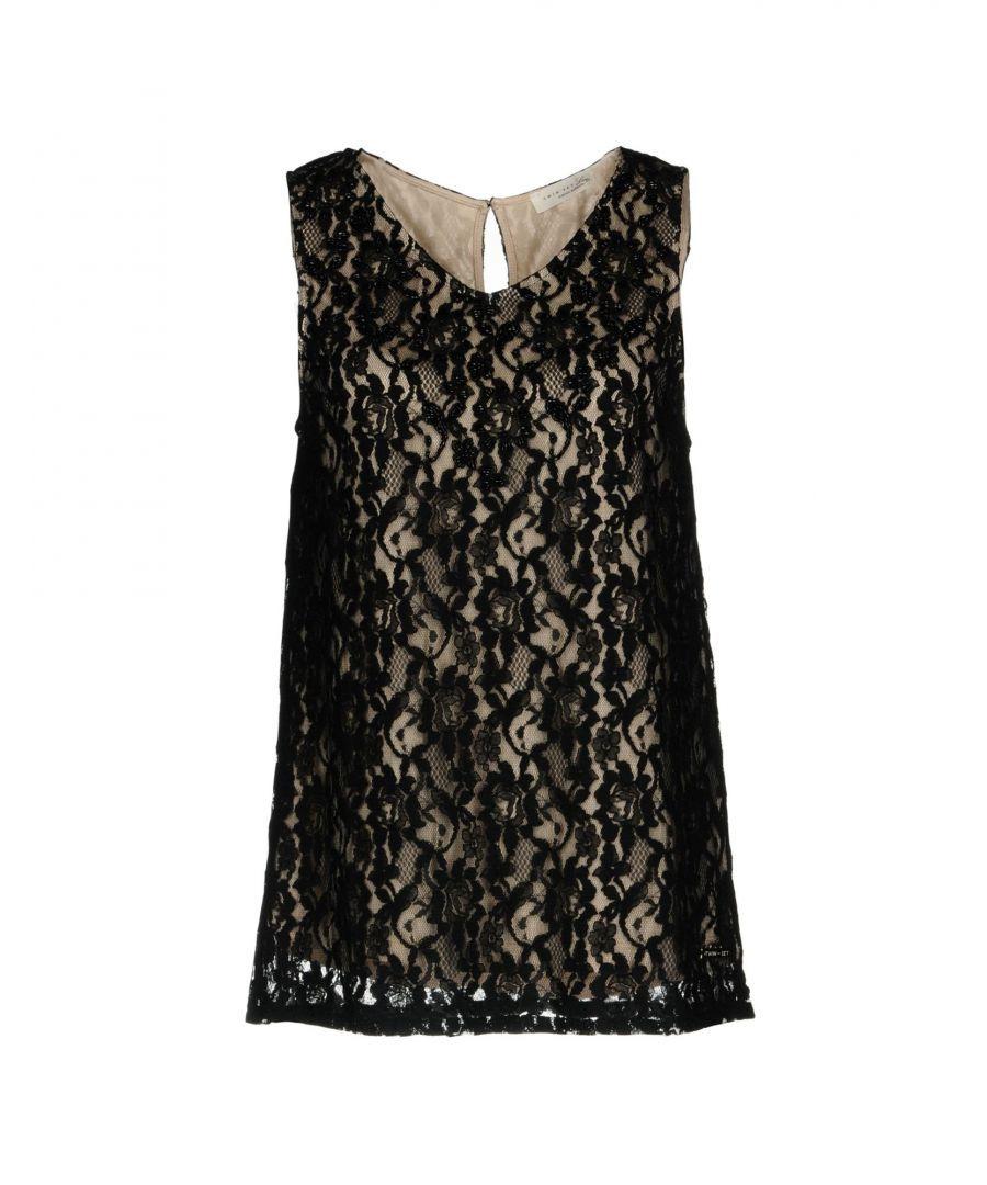 Image for Twinset Black Cotton Lace Top