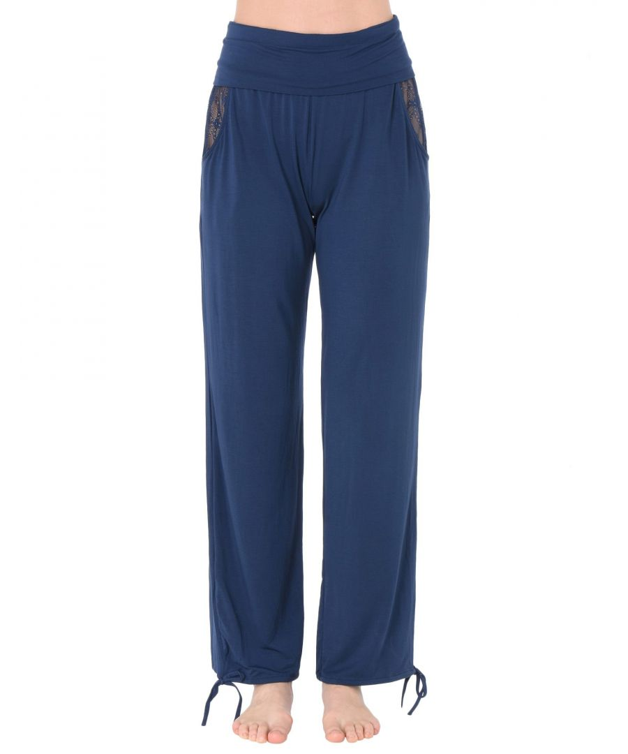 Image for Heidi Klum Intimates Dark Blue Modal Pyjama Bottoms