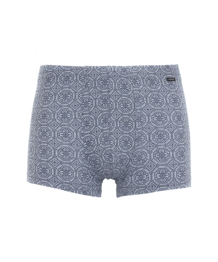 Image for Hanro Light Grey Pattern Cotton Briefs