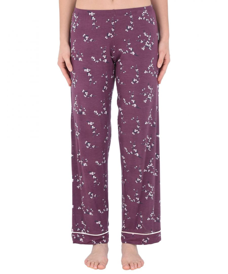Image for Eberjey Maroon Floral Design Modal Pyjama Bottoms