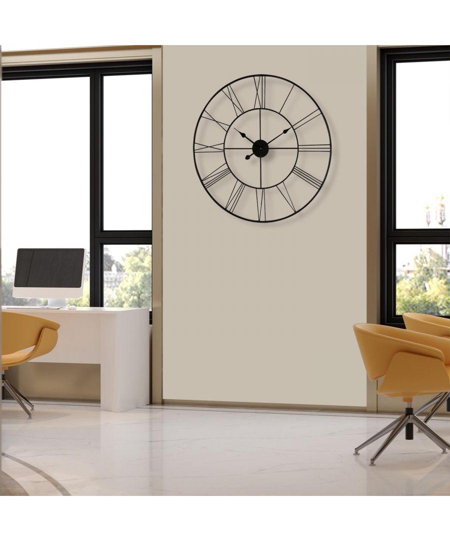 Image for Walplus Minimalist Slim Iron Wall Clock 76cm wall clock, wall clock modern 76 cm x 76 cm x 3.5 cm 1 piece