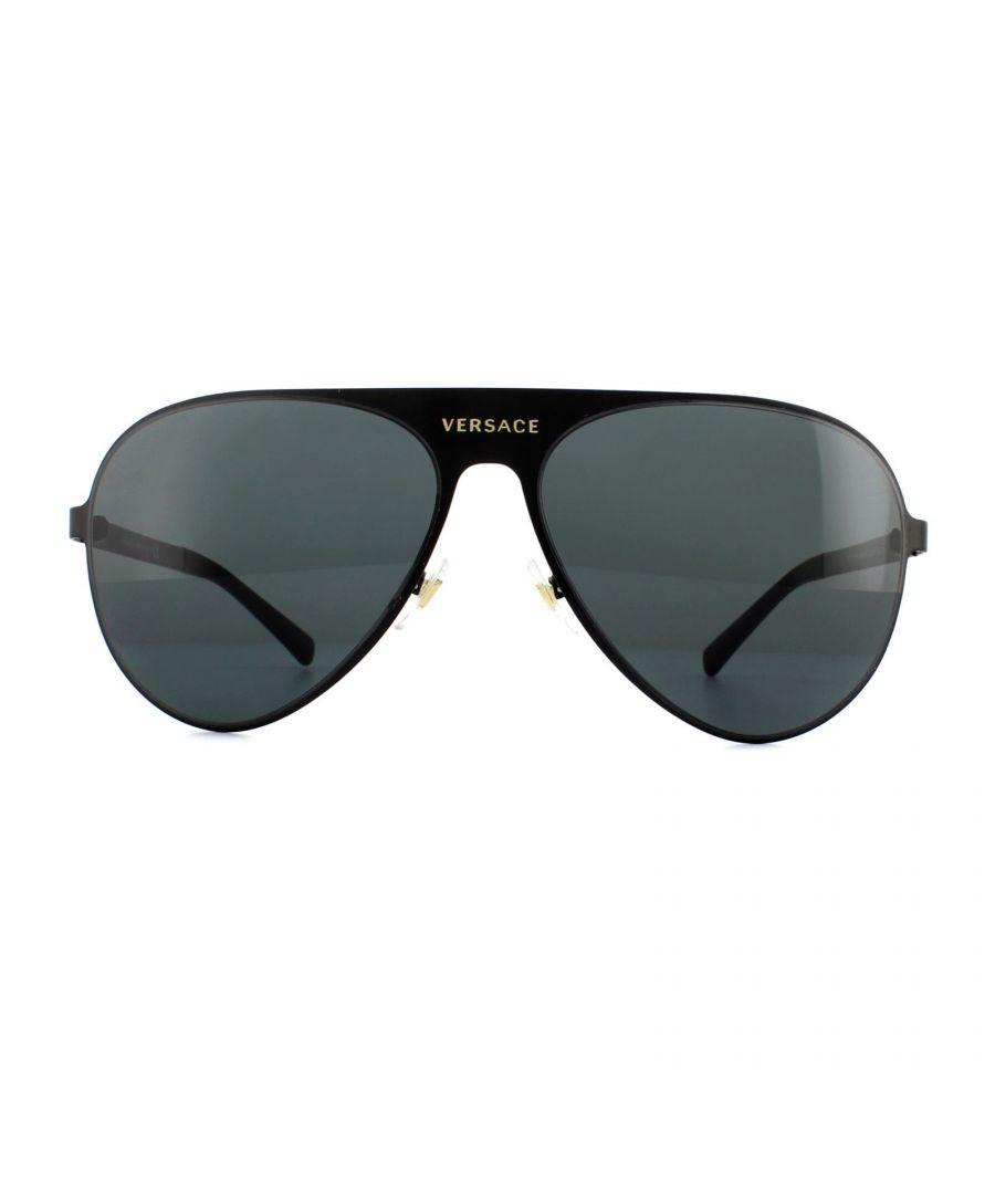 Image for Versace Sunglasses VE2189 142587 Matte Black Grey