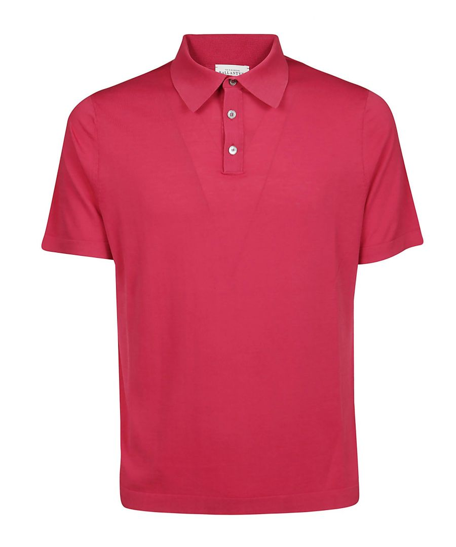 Image for BALLANTYNE MEN'S Q2W02618C4712124 RED COTTON POLO SHIRT