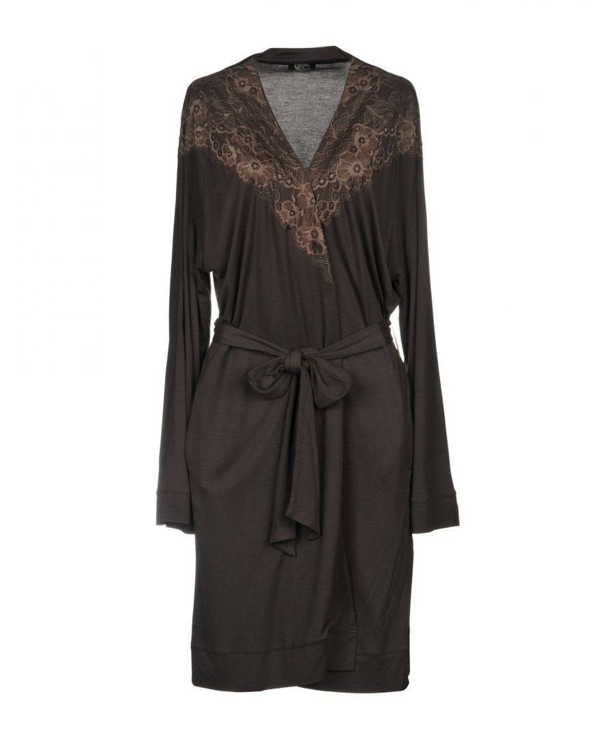 Image for Christies Dark Brown Modal Jersey And Lace Belted Robe