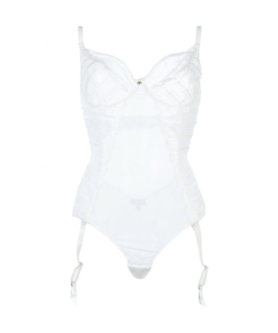 Image for Christies White Lace And Tulle Bodysuit