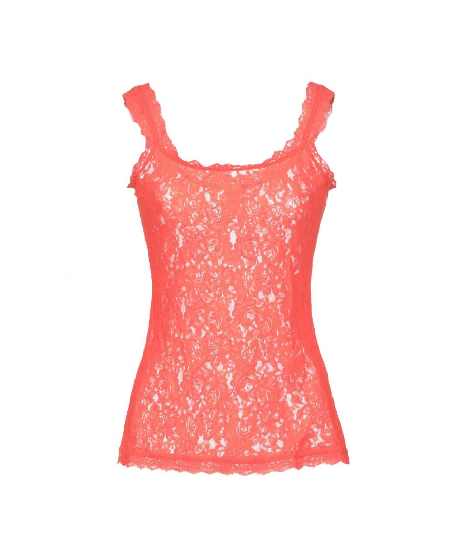 Image for Hanky Panky Orange Stretch Lace Camisole