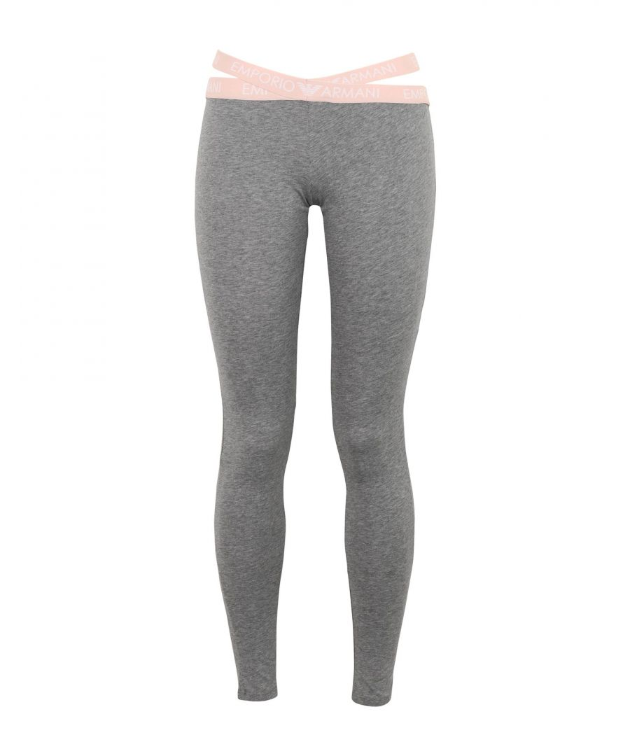 Image for Emporio Armani Grey Cotton Jersey Leggings