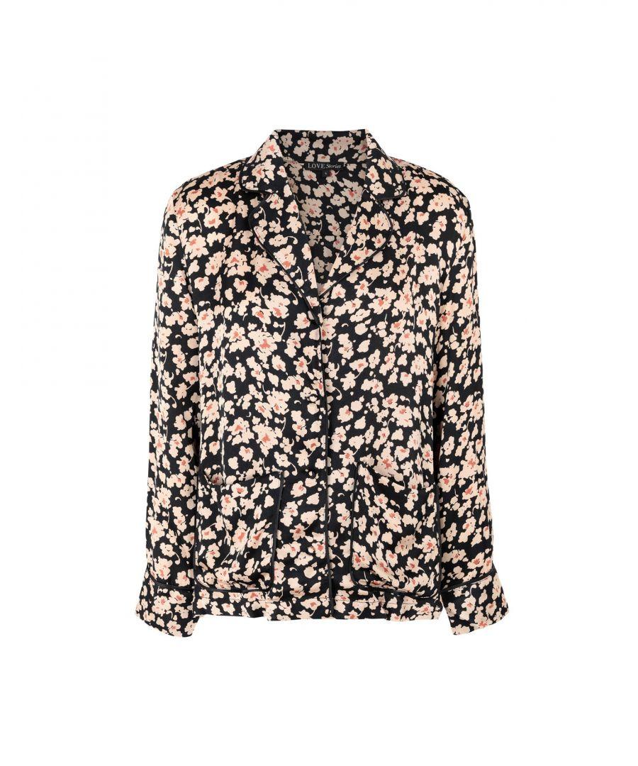 Image for Love Stories Beige Floral Design Pyjama Shirt