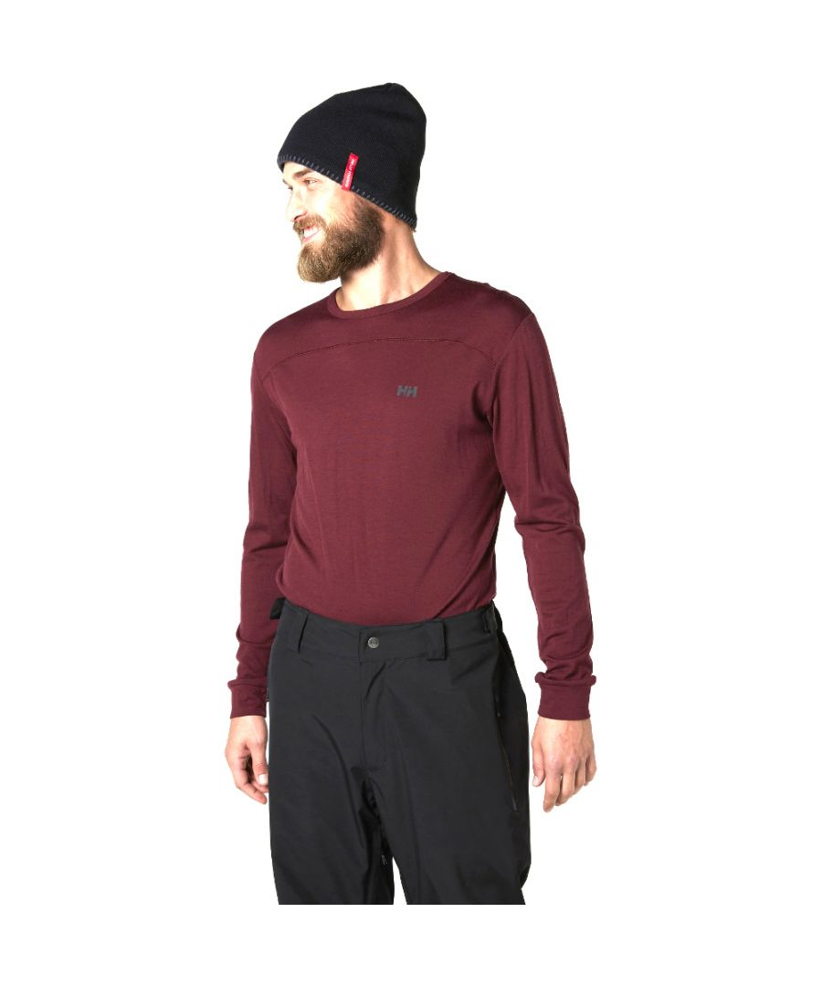 Image for Helly Hansen Mens Merino Wool Mid Long Sleeve Stretch Baselayer Top