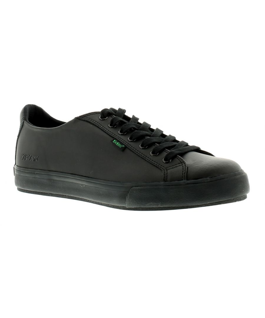 Image for New Mens/Gents Black Kickers Tovni Leather Upper Lace Ups Casual Shoes