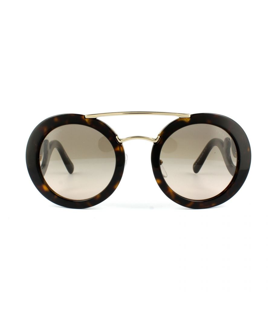Image for Prada Sunglasses 13SS 2AU3D0 Havana Gold Brown Gradient