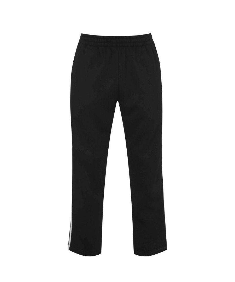 Image for Lonsdale Mens 2 Stripe Open Hem Jogging Pants Joggers Jogging Bottoms Trousers