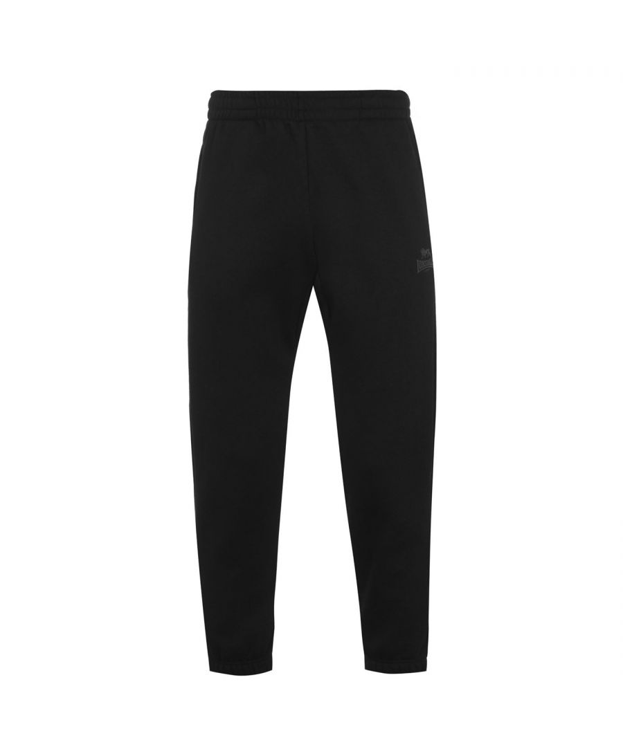 Image for Lonsdale Mens Essential Joggers Sports Training Bottoms Trousers Pants