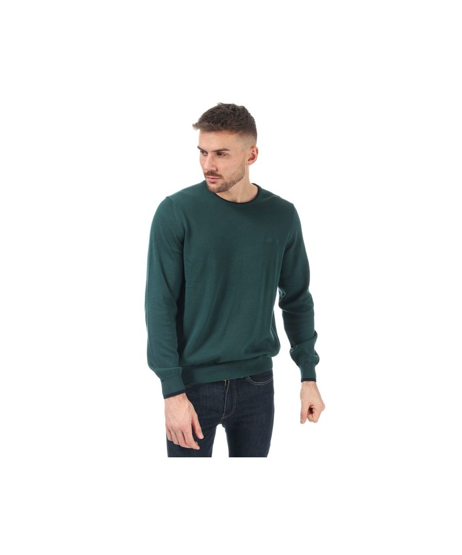 Image for Men's Ben Sherman Tipped Crew Neck Knit in Green