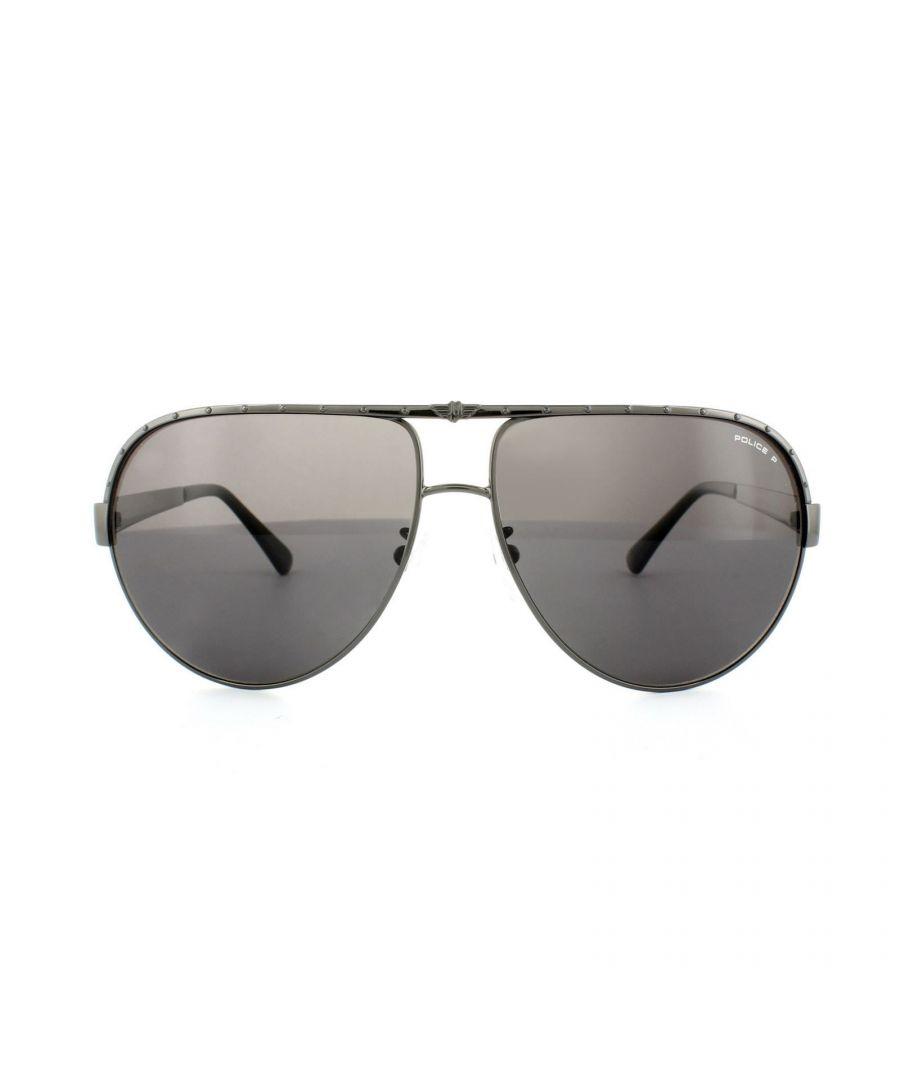 Image for Police Sunglasses S8844 Spark 1 568P Matt Bronze Bronze Polarized