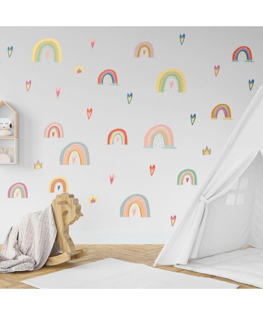 Image for Wall Art - Cheerful Nursery Cute Rainbows