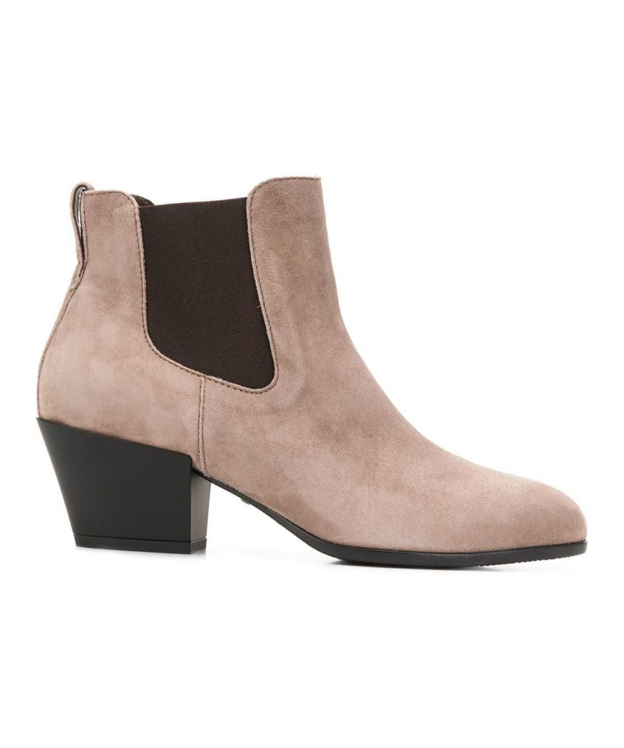 Image for HOGAN WOMEN'S HXW4010W890CR0C407 BROWN SUEDE ANKLE BOOTS