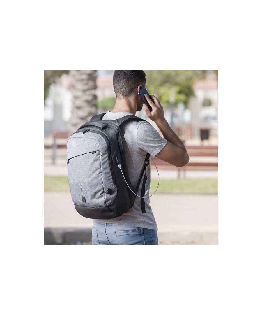 Image for Rucksack with  Power Bank and Tablet and Laptop Compartment 8000 mAh 145971