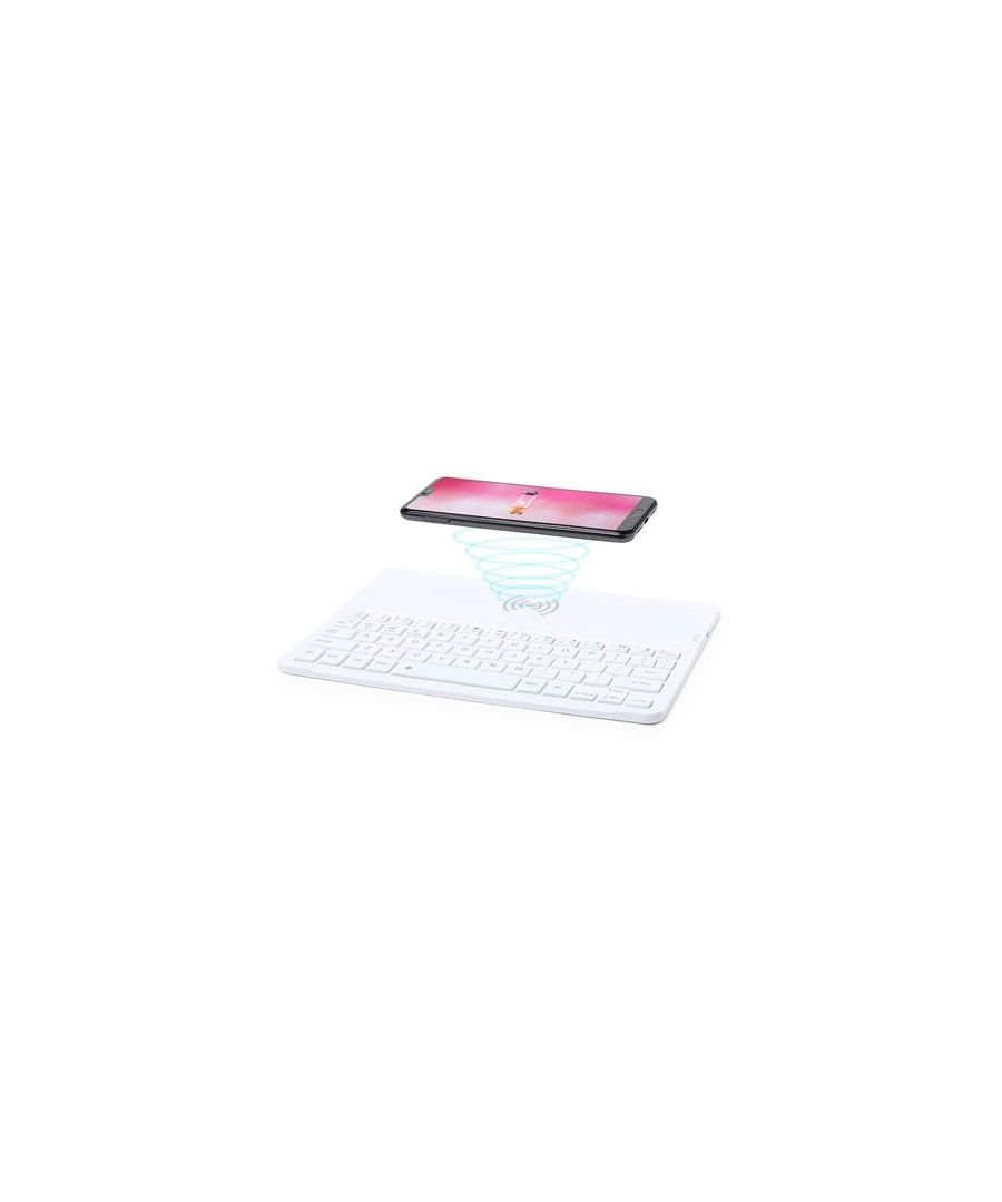 Image for Bluetooth Keyboard with Qi Wireless Charger White 146129